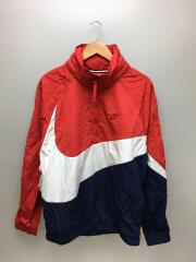 ANORAK QS JACKET BIG SWOOSH HOODED/ナイロンジャケット/L/ナイロン/RED