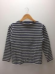 長袖Tシャツ/XS/コットン/BLU/ボーダー