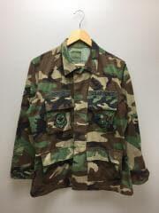 USA製/95年製/フィールドシャツ/ワッペン付/シャツ/S/コットン/KHK/カモフラ