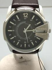 クォーツ腕時計/アナログ/レザー/GRY/BRW/DZ-1206