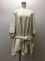 セーター(薄手)/FREE/ウール/CRM/ウールポンチョニットトップス/SWNT195086