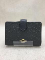 2つ折り財布/エナメル/GRY/総柄/レディース