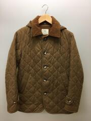 キルティングジャケット/M/ウール/BRW