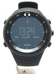 SUUNTO CORE ALL BLK/クォーツ腕時計/デジタル/ラバー/BLK/BLK