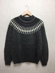 セーター(厚手)/--/ウール/GRY/ノルディック柄