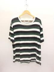 US0651/Tシャツ/3/コットン/WHT/ボーダー/色褪せ有
