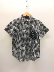 ブラックコムデギャルソン/1M-B008/2013モデル/半袖シャツ/XS/コットン/BLK// チェック
