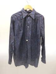 Regular Collar EDW Gather Shirt/ej164/長袖シャツ/M/コットン/BLU