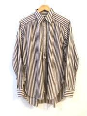 Regular Collar EDW Shirt - Block Stripe/長袖シャツ/S/コットン/BEG