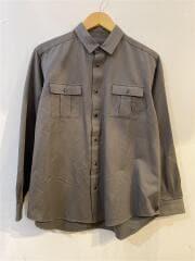 スナップボタン/ミリタリー/1080701/長袖シャツ/1/コットン/GRY