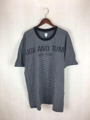 RANDT Logo S/S Stripe T-Shirt/Tシャツ/L/コットン/GRY/ボーダー