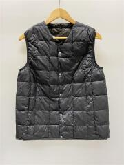 V NECK BUTTON INNER DOWN VEST/TAION-001/ベスト/M/ナイロン/BLK