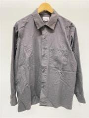 ライトシャツジャケット/長袖シャツ/48/コットン/GRY