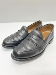HOWARD R/シボ革/Dainite SOLE/52031F W58014/ローファー/UK7/BLK/レザー