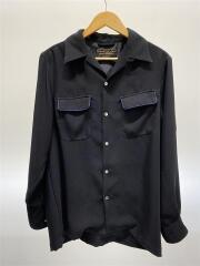 POLY CLOTH BOX SHIRTS/UF94-13B001/長袖シャツ/2/ポリエステル/BLK