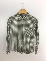 ギンガムチェックシャツ/長袖シャツ/S/コットン/GRY/チェック