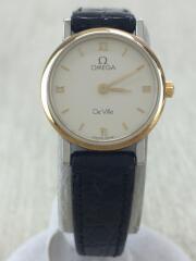 OMEGA オメガ/クォーツ腕時計/アナログ/レザー/WHT/BLK////DEVILLE/デビル//54800479
