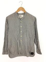 バンドカラーシャツ/長袖シャツ/S/リネン/GRY