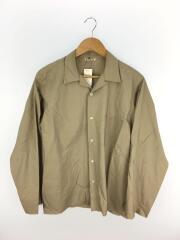 SELVEDGE WEATHER CLOTH SHIRTS/オープンカラ-/長袖シャツ/5/コットン/BEG/