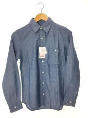 タンガリーシャツ/12-050-400-8800-3-0/FREE/コットン/BLU/タグ付未使用品
