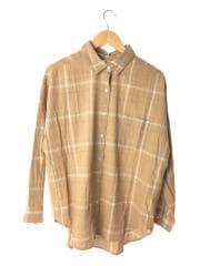 ビッグルーズチェックシャツ/111920412401-01/19SS/FREE/コットン/BEG/チェック/B