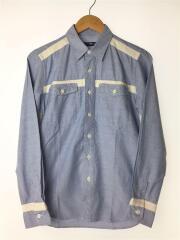 長袖シャツ/CAW13-SH0002/S/コットン/BLU/日本製