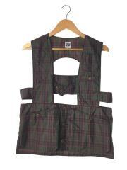 Adventure Vest/アメリカ製/mc62681/S/ナイロン/GRN/タータンチェック