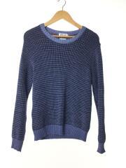 クルーネックセーター/95015089/S/ウール/BLU