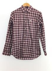 チェックシャツ/made in ITALY/44/コットン/RED/チェック