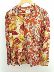 クレイジーパターンアロハシャツ/CR01-02L5-SL13/L/レーヨン/ORN/総柄