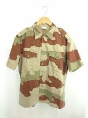 MAGECO社/旧フランス軍カモフラ柄S/Sシャツ/SIZE 41/42/カーキ/ブラウン/総柄