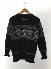 セーター(厚手)/S/ウール/BLK