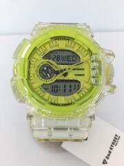 クォーツ腕時計/デジタル/YLW/clear/skeleton/クリア