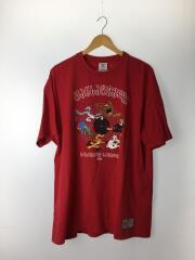 Tシャツ/M/コットン/RED