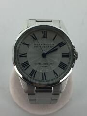 クォーツ腕時計/アナログ/ステンレス/WHT/SLV/vj21-ktb01