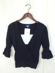 セーター(薄手)/40/コットン/BLK/無地/FB560-158-09