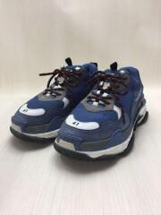 ローカットスニーカー/27cm/BLU/レザー/533878/TRIPLE S