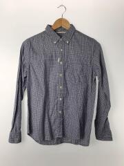 長袖シャツ/1/コットン/BLU/チェック/GSC064/ボタンダウンチェックシャツ