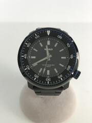 クォーツ腕時計/アナログ/ステンレス/BLK/BLK/VH31-KBC0/ソリディティ