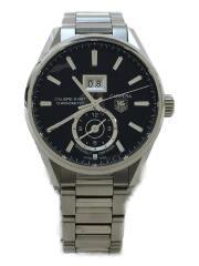 自動巻腕時計/アナログ/ステンレス/BLK/WAR5010/カレラキャリバー8GMT/carrera  バックスケルトン
