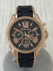 クォーツ腕時計/アナログ/ブラック/ミイケルコース/ステンレス/ラバー/フォーマル/パーティー// クロノグラフ BRADSHAW ブラッドショー   MK-6580