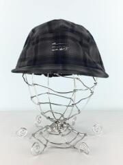 キャップ/レーヨン/GRY/チェック/帽子/ジェットキャップ