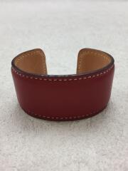 バングル/レザー/RED/アクセサリー/腕飾り/革/腕輪/ブレスレット/装飾品/服飾品/