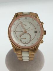 クォーツ腕時計/アナログ/WHT/GLD/マイケルコース/ホワイト/ゴールド/MK-6467