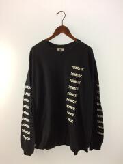 長袖Tシャツ/XXL/コットン/BLK/テンボックス/スリ-ブロゴ/ロンT/