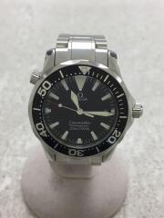 クォーツ腕時計/アナログ/ステンレス/BLK/SLV/2262.50/シーマスター/銀/黒/