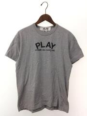 Tシャツ/L/コットン/GRY/無地/グレ-/AZ-T072/プレイコムデギャルソン