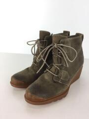 Toronto Green Suede Lace Boot/ハイカットスニーカー/23cm/KHK/スウェード