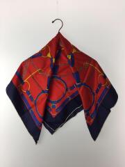 スカーフ//シルク/RED
