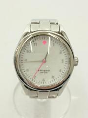 腕時計//アナログ/ステンレス/WHT/SLV/箱有